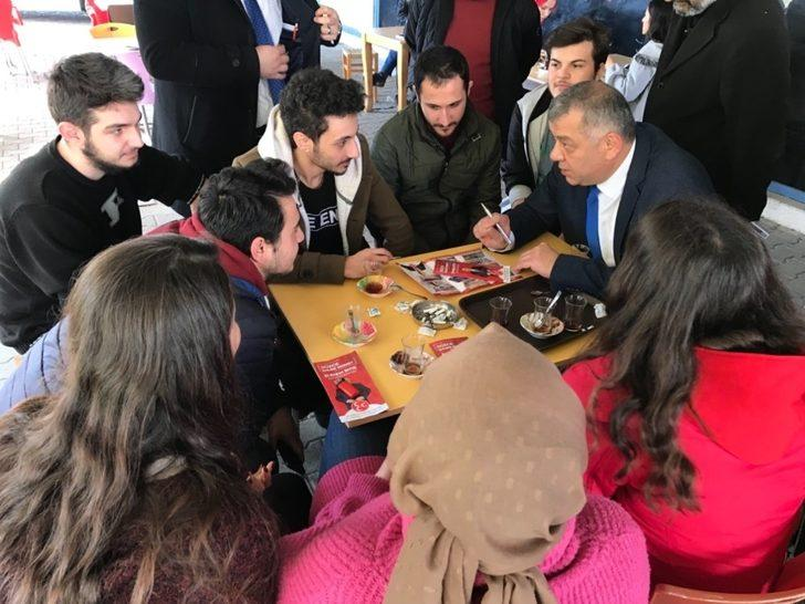 MHP'li Başkan adayı Erdoğan Bıyık dur durak bilmiyor
