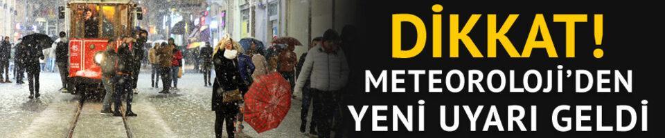 Dikkat! Meteoroloji'den İstanbul için yeni uyarı geldi