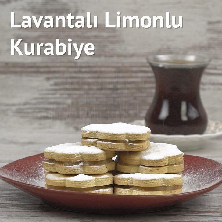 Lavantalı Limonlu Kurabiye