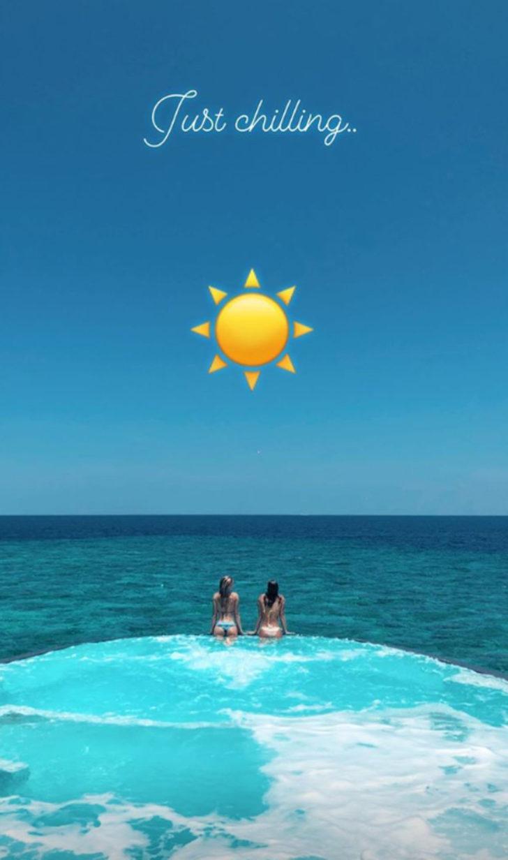 Şeyma Subaşı Maldivler tatilinde