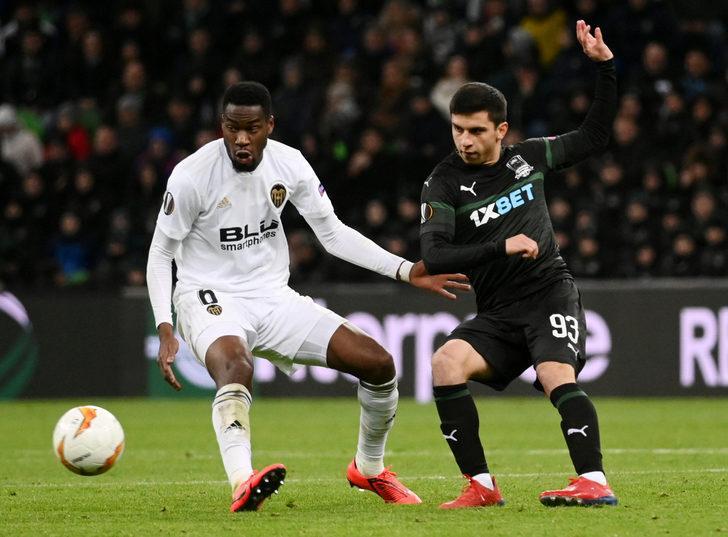Krasnodar: 1 - Valencia: 1 İlk maç: (1-2)