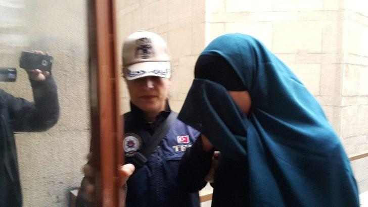 Kırmızı bültenle aranan DEAŞ'lı kadın adliyeye sevk edildi