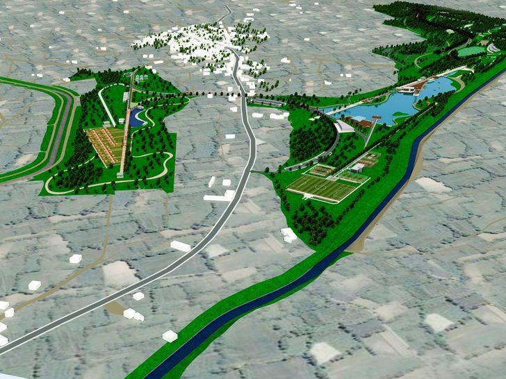 Nilüfer'e 70 futbol sahası büyüklüğünde millet bahçesi