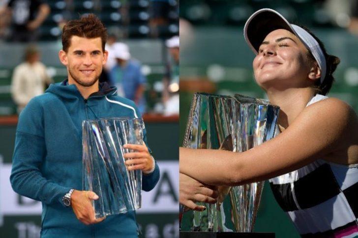 Indian Wells'te şampiyon Dominic Thiem ve Bianca Andreescu