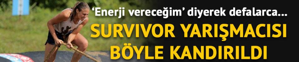 Survivor yarışmacısı Ecem Karaağaç böyle kandırıldı! 'Enerji vereceğim' dedi ve...