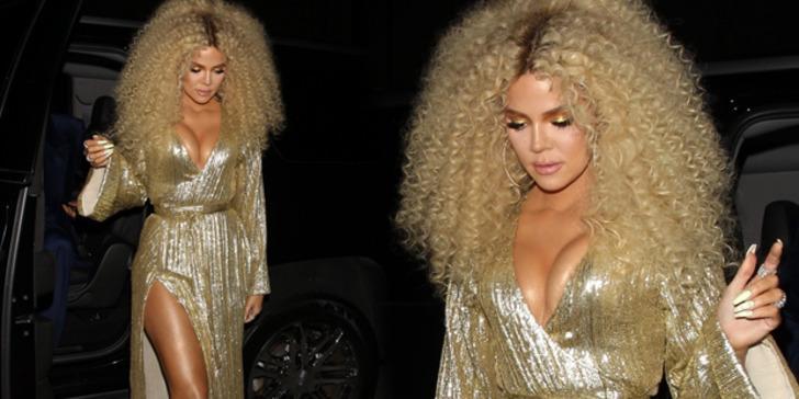 Khloe Kardashian yeni stiliyle tüm dikkatleri üstüne çekti