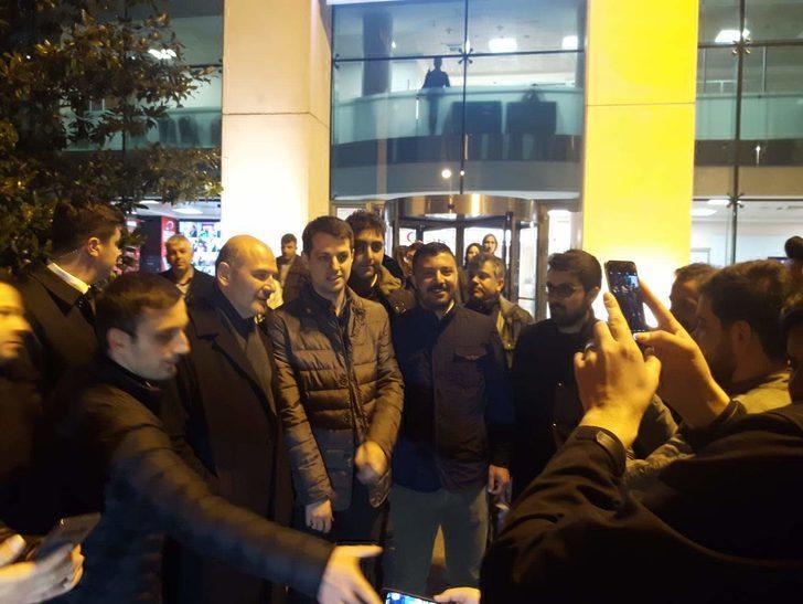 Soylu ve Varank AK Parti il binasından ayrıldı
