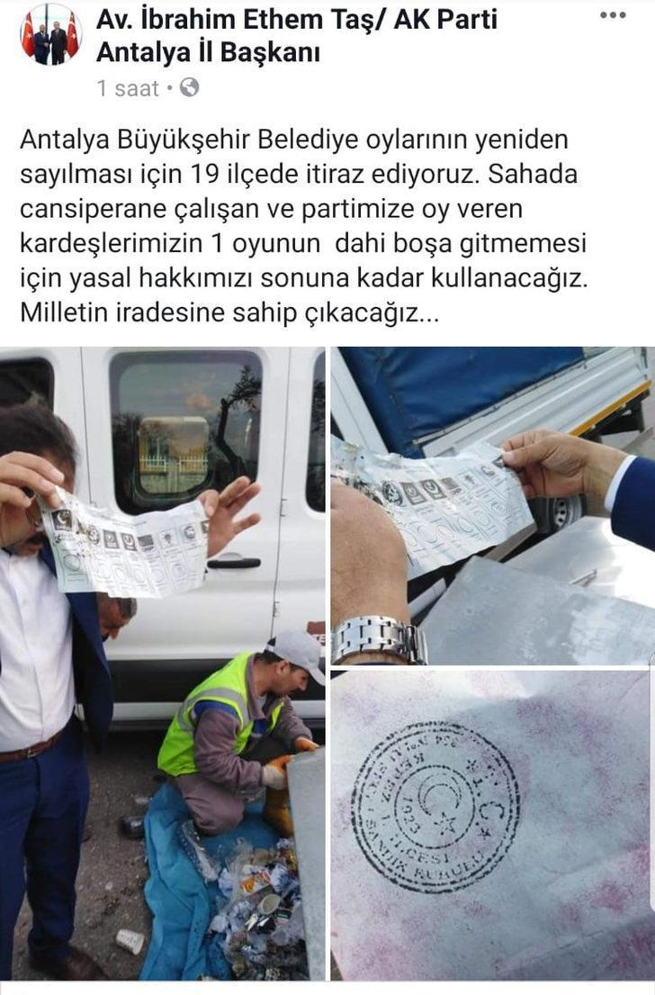 AK Parti'den Antalya'da 19 ilçede itiraz