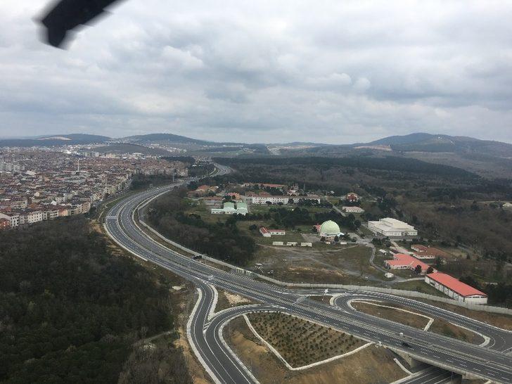 İstanbul jandarmasından helikopter destekli trafik denetimi