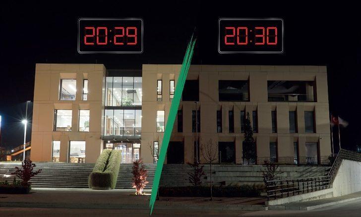"""Aksa """"sürdürülebilir bir gelecek"""" için bir saat ışıklarını kapattı"""