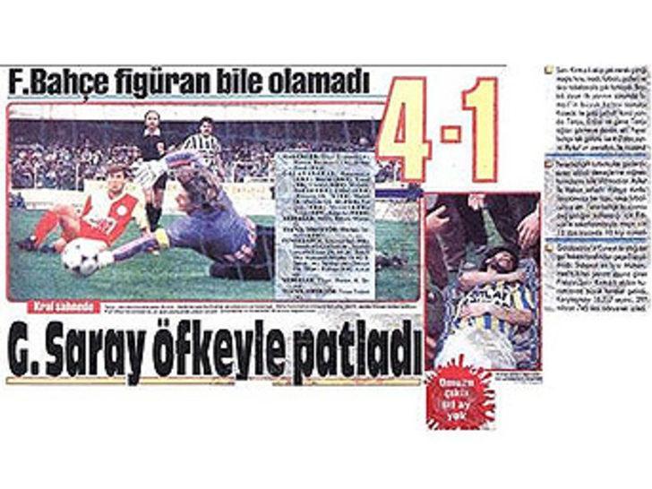 4 Mayıs 1991   Galatasaray 4 - 1 Fenerbahçe - Ligin 28. haftasında Galatasaray, Ali Sami Yen'de ezeli rakibini rahat geçti. Tanju Çolak 2 golle yıldızlaştı.