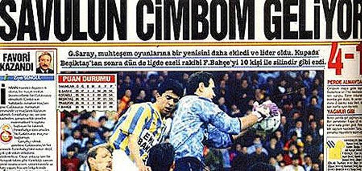 11 Nisan 1993   Fenerbahçe 1 - 4 Galatasaray - Galatasaray, 10 kişi kaldığı maçta Tugay (2), Gütschow ve Hakan'ın golleriyle kazandı.