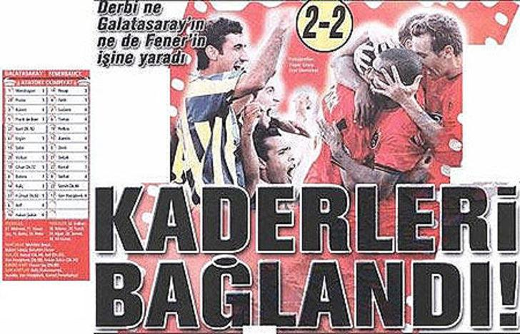 21 Eylül 2003   Galatasaray 2 - 2 Fenerbahçe - Prates'in şutu Hakan Şükür'ün kafasına çarpıp ağlara gitti. Luciano'nun elle oynamasına verilmeyen penaltı maça damga vurdu.