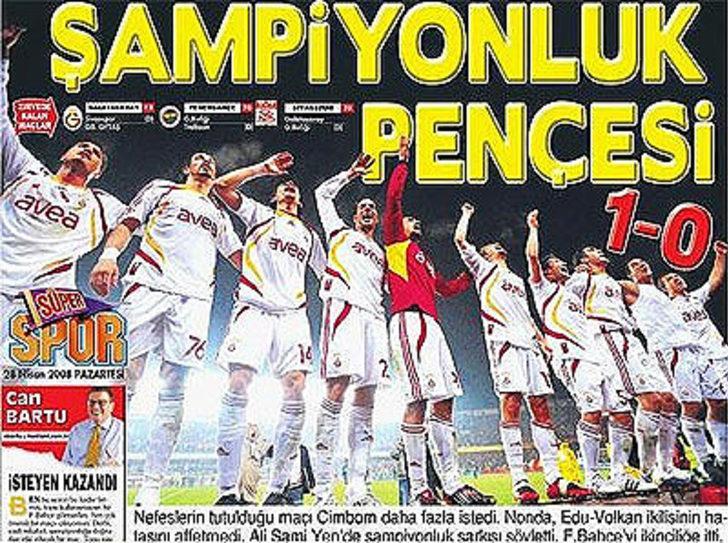 27 Nisan 2008   Galatasaray 1 - 0 Fenerbahçe - Şampiyonluk açısından büyük önem taşıyan maçta Volkan'ın büyük hatasını affetmeyen Nonda kafa golüyle skoru belirledi.