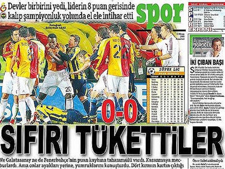 12 Nisan 2009   Galatasaray 0 - 0 Fenerbahçe - Lugano'nun Emre Aşık'a kafa atmasıyla ortalık bir anda karıştı. İyi arkadaş olan Semih ve Arda arasında da yumruklar konuştu.