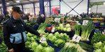 Çorlu'da pazar yeri denetimleri sürüyor