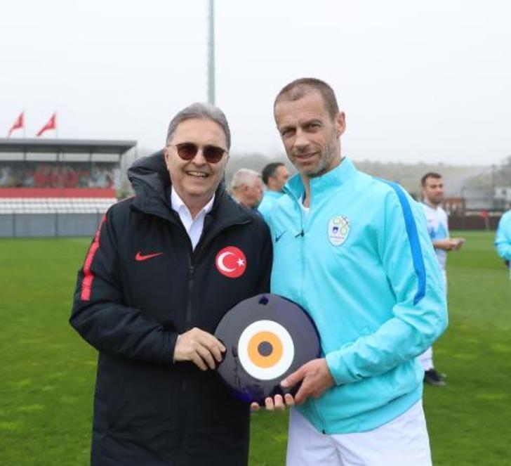UEFA Başkanı Aleksander Ceferin'den TFF Başkanı Hüsnü Güreli'ye ziyaret