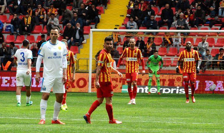Kayserispor ligin ikinci yarısında sahasında ilk kez yenildi