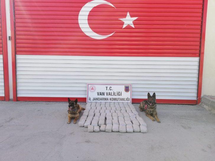 Özalp'ta 81 kilo esrar ele geçirildi