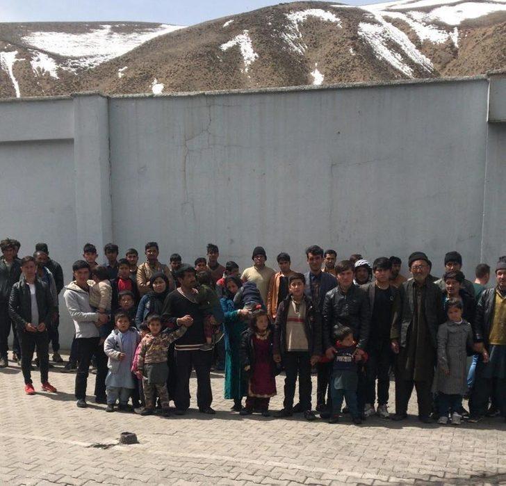 Başkale'de 61 kaçak göçmen yakalandı