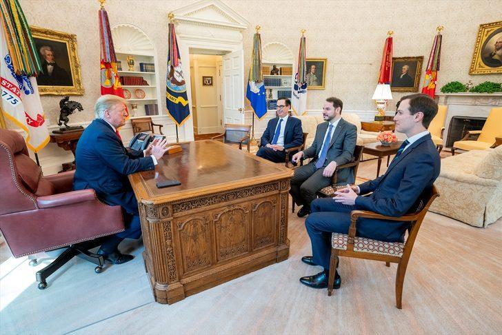 Hazine ve Maliye Bakanı Berat Albayrak, ABD Başkanı Trump ile görüştü
