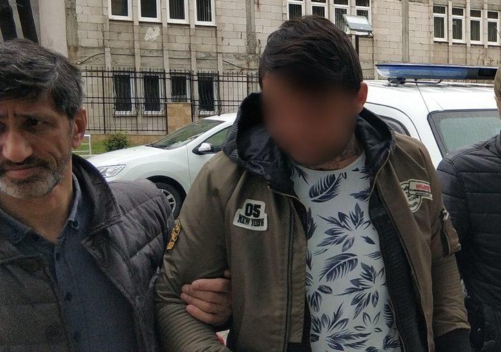 Hırsızlık suçundan hapis cezası bulunan genç tutuklandı