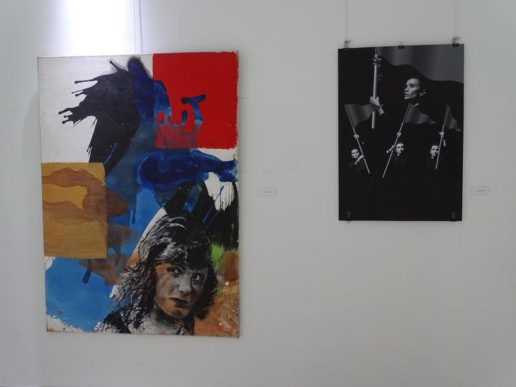 Öğretim elemanlarının eserleriyle 'Dünya Sanat Günü' sergisi açıldı