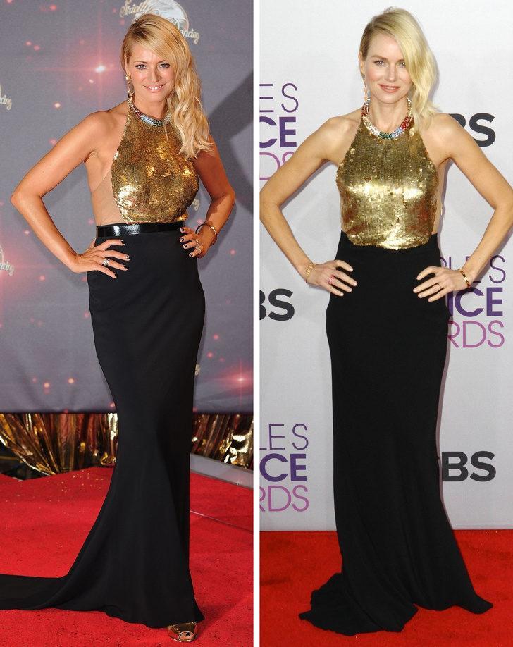 Tess Daly ve Naomi Watts