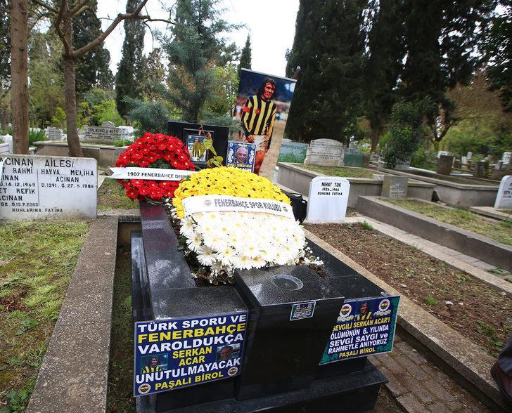 Fenerbahçe'de Serkan Acar mezarı başında anıldı