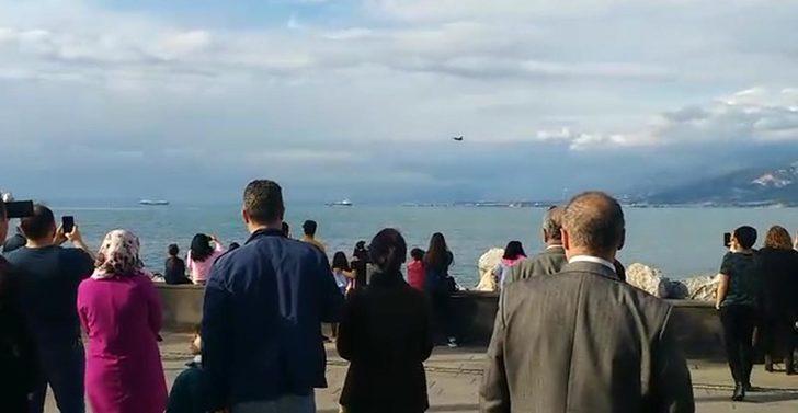 İskenderun'da SoloTürk provasına büyük ilgi