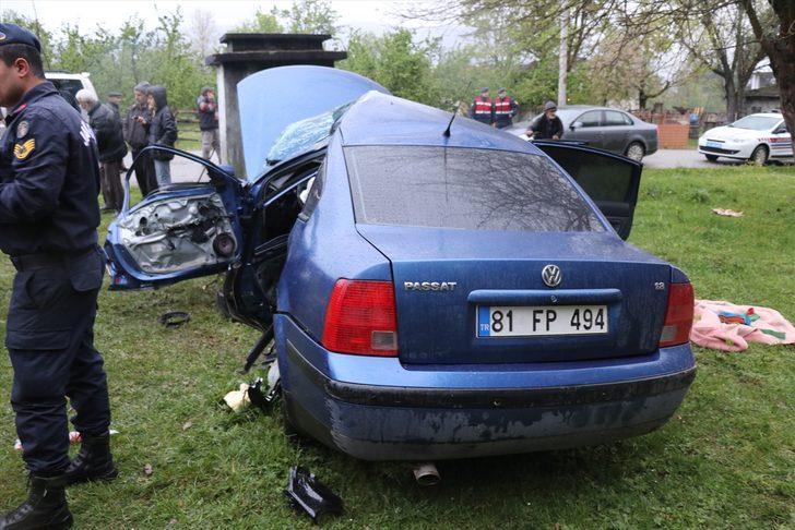 GÜNCELLEME - Düzce'de otomobil takla attı: 1 ölü, 2 yaralı
