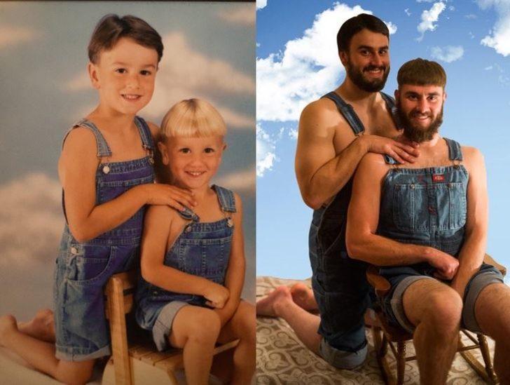 Yıllar sonraki değişim! Çocukluk ve şimdiki halleri