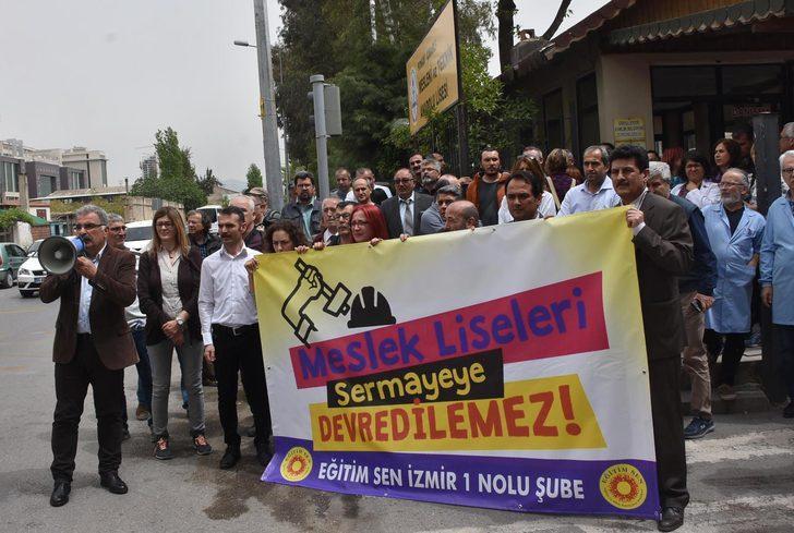 Çınarlı Mesleki Teknik ve Anadolu Lisesi'nin devrine tepki
