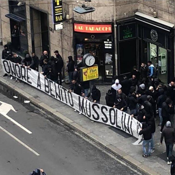 """Lazio ve İnterli taraftarların """"Mussolini'ye övgü"""" pankartı için soruşturma"""
