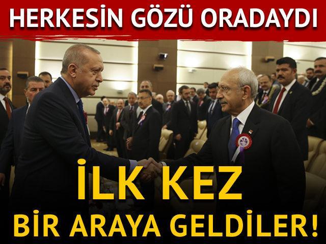 Erdoğan ve Kılıçdaroğlu ilk kez bir araya geldi