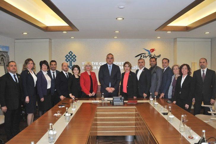 GESİFED, Kültür Ve Turizm Bakanı Ersoy'a 'Ege Hikayesi'ni Anlattı