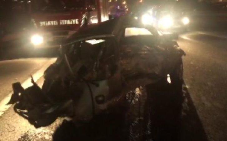 TEM Otoyolu'nda 6 araç birbirine girdi: 1 yaralı