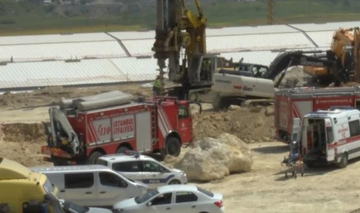 Başakşehir'de okul inşaatında göçük: 1 işçi hayatını kaybetti