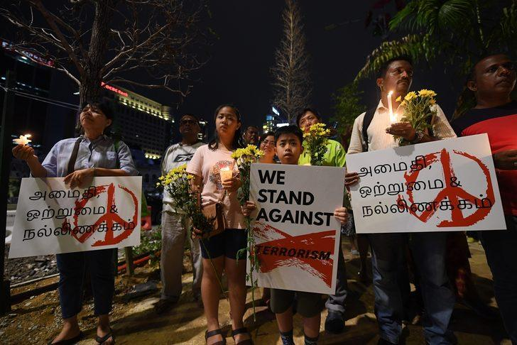 Malezya'da Sri Lanka saldırılarının kurbanları anıldı
