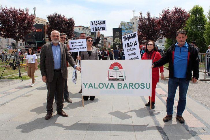 Yalova'da 1 Mayıs'a sönük kutlama