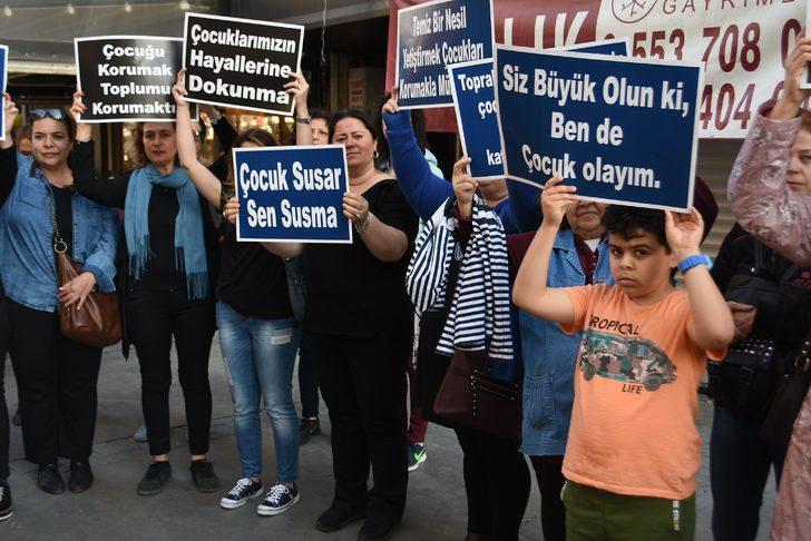 İzmirli Anneler Platformu, çocuk istismarına 'çığlık' atarak tepki gösterdi