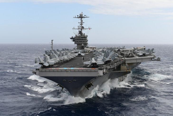 ABD'den İran'a uçak gemili tehdit! 'Hazırız'