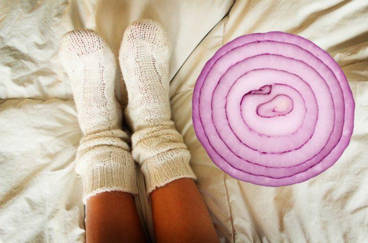 Uyumadan önce çorabınızın içine soğan dilimi koymanın yararları