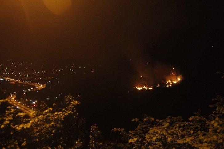 Giresun'da ki orman yangını