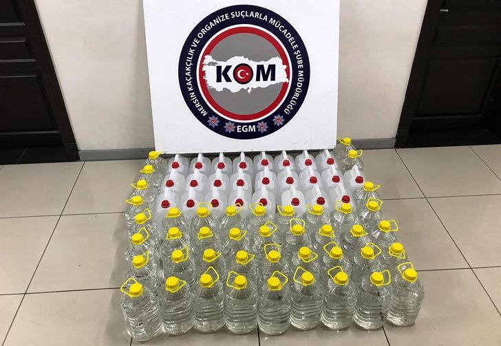Mersin'de 340 litre etil alkol ve sahte rakı ele geçirildi