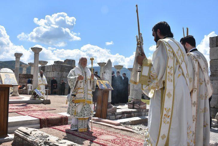 Fener Rum Patriği Bartholomeos, Efes'teki ayine katıldı