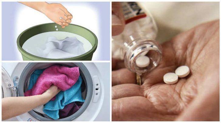 Çamaşır makinenize attığınız aspirin bakın neler yapıyor!