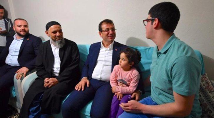 Ekrem İmamoğlu, 'Sen utanma, biz utanalım' dediği Cebrail'i ziyaret etti!