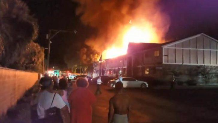 Çocuklarını yangından kurtarmak için eve girdi! Hiçbiri çıkamadı