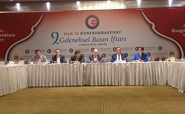 HAK-İŞ Genel Başkanı Arslan basın mensuplarıyla iftarda buluştu